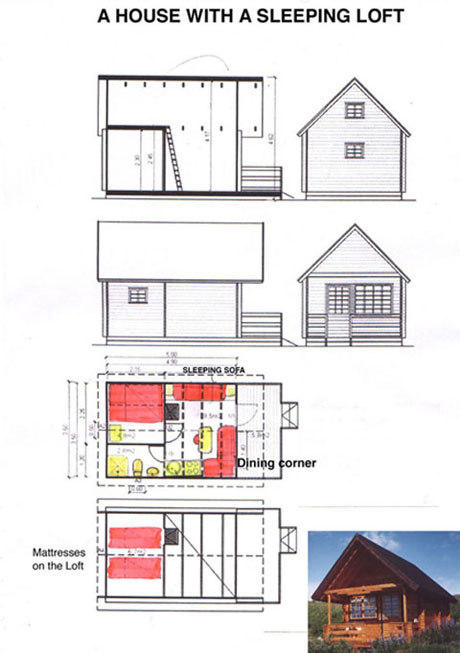 House accommodation with attic/sleeping loft in Husavik North Iceland